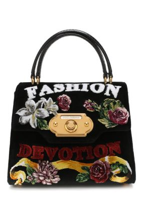 Сумка Welcome medium из бархата Dolce & Gabbana
