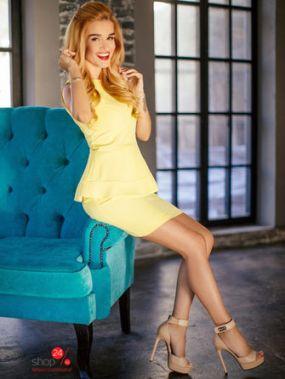 Платье BORODINA KSENIA, цвет желтый
