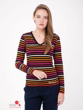 Пуловер Little Marcel, цвет черный, полоска