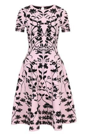Приталенное вязаное мини-платье Alexander McQueen