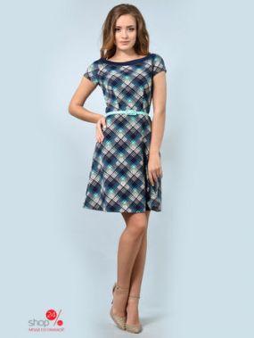Платье LILA KASS, цвет синий, бирюзовый