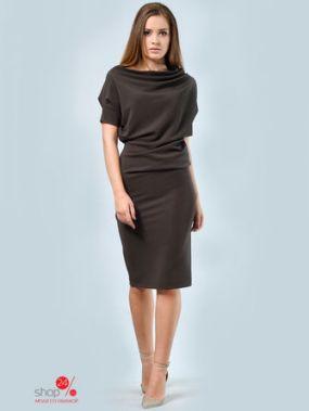 Платье LILA KASS, цвет коричневый