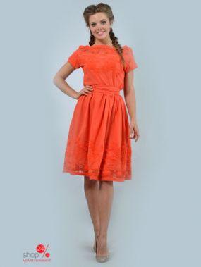 Платье LILA KASS, цвет оранжевый