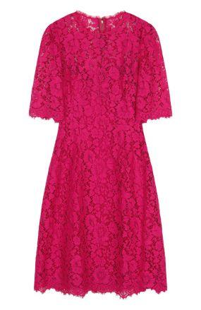 Приталенное кружевное платье-миди Dolce & Gabbana