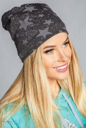Зимняя шапка-бини