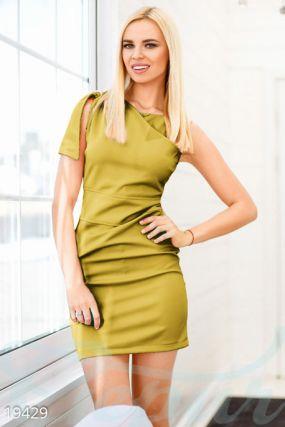 Эластичное платье-мини