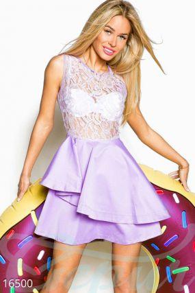 Гипюровое мини-платье