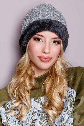 Теплая женская шапка