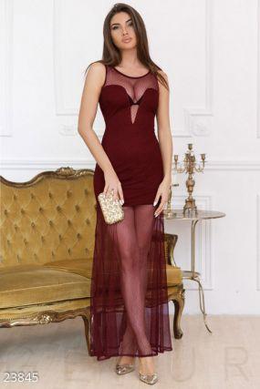 Смелое платье-сетка
