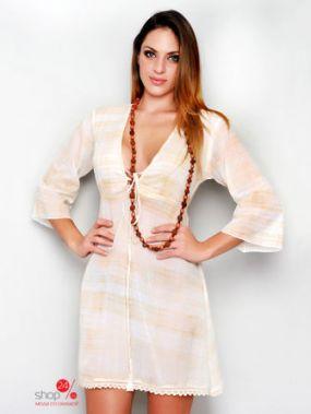 Платье HHG, цвет бежевый