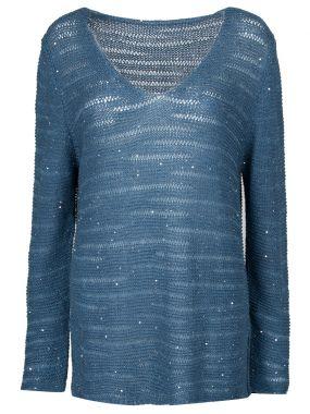 Пуловер с декором