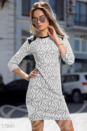 Жаккардовое платье-мини