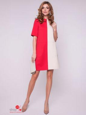 Платье Olga Skazkina, цвет коралловый, бежевый