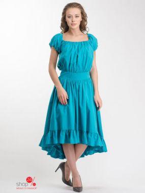 Платье SELEZZA, цвет бирюзовый