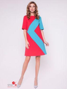 Платье Olga Skazkina, цвет коралловый, бирюзовый