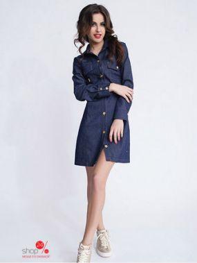 Платье-рубашка New Style, цвет синий