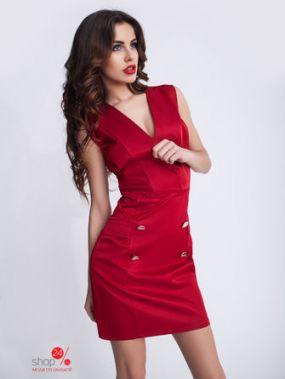 Платье-жилет New Style, цвет вишневый