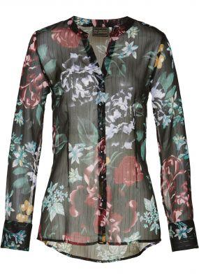 Блузка шифоновая с люрексом