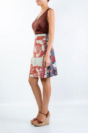 Короткая юбка в стиле пэчворк