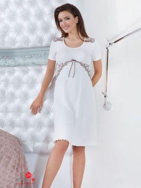Ночная сорочка BABELLA, цвет белый, светло-розовый