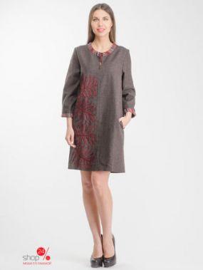 Платье SAVOSINA, цвет коричневый