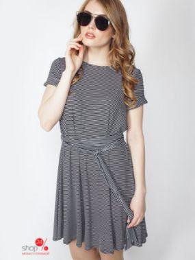 Платье Lavana Fashion, цвет черный, белый