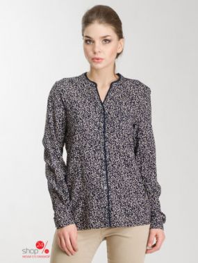 Блуза Olsen, цвет темно-синий
