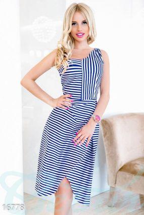 Платье в морском стиле