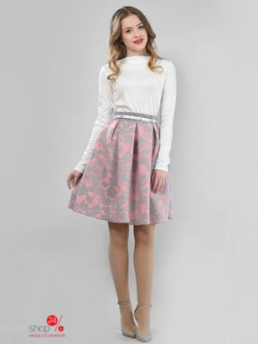 Юбка LILA KASS, цвет розовый, серый