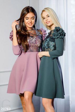 Платье с цветочной вышивкой Gepur