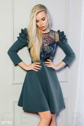 Цветочное платье с оборками