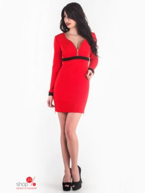 Платье ZHASKO, цвет красный, черный