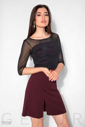 Двухцветное платье-мини