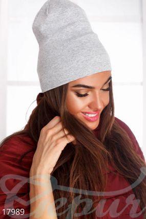 Стильная трикотажаная шапка