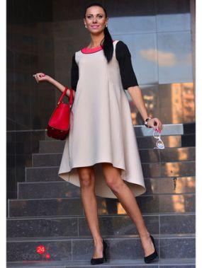 Платье Alicja, цвет бежевый, черный