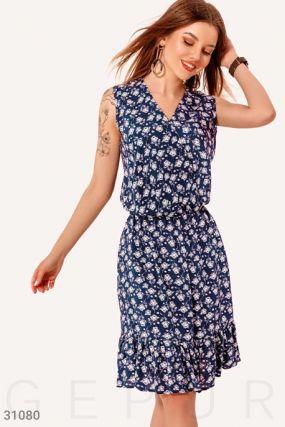Цветочное платье на запа́х
