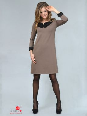 Платье LILA KASS, цвет темно-бежевый