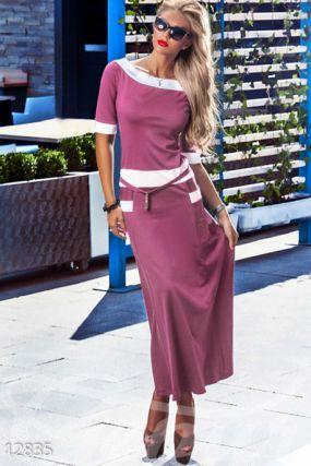Элегантное трикотажное платье