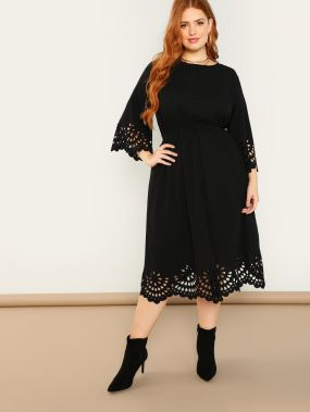 Плюс размеры гребешок лазерная резка платье