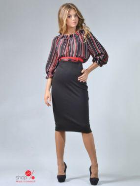 Платье LILA KASS, цвет черный, красный