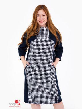Платье LILA KASS, цвет темно-синий, белый
