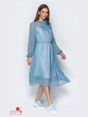 Платье Модный остров, цвет голубой