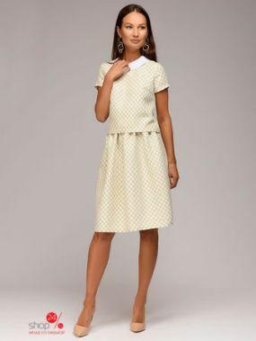 Костюм: юбка, топ 1001 DRESS, цвет бежевый