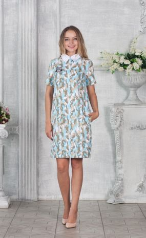 Платье джинсовое камуфляжной расцветки