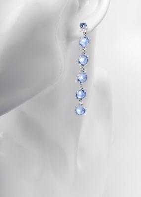 Серьги из голубых кристаллов swarovski 02503