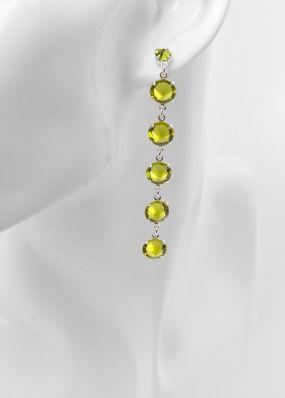 Серьги из зеленых кристаллов swarovski 02503Z