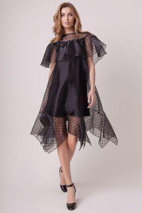 Вечернее платье с прозрачными элементами 161010