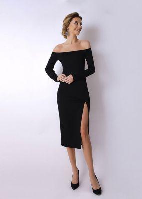 Нарядное платье с декольте 170431R