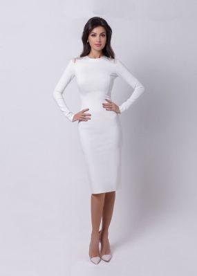 белое платье футляр 170731A