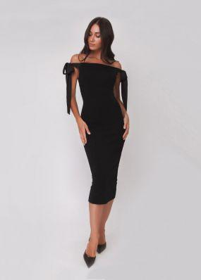 Платье-футляр с открытыми плечами 180244
